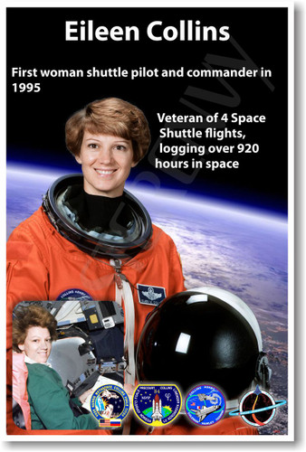 Astronaut Eileen Collins- First Woman Space Shuttle Pilot & Commander - NEW NASA Space Poster (fp400) PosterEnvy