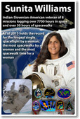 Astronaut Sunita Williams - First Indian-Slovenian American Woman in Space - NEW Space Poster (fp405) Spacewalks PosterEnvy