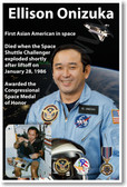 NASA Astronaut Ellison Onizuka - First Asian-American in Space - NEW Space Poster (fp409) PosterEnvy