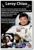 NASA Astronaut Leroy Chiao - Chinese American Space Shuttle Mission Veteran - NEW Space Poster (fp413) Asian PosterEnvy