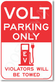 Volt Parking Only - NEW Electric Vehicle EV Poster (hu279) PosterEnvy Novelty Car Gift