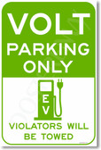 Volt Parking Only (green) - NEW Electric Vehicle EV Poster (hu280) posterenvy car auto gift