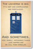 Doctor Who - Tardis - The Universe Is Big - NEW British TV Show Humor Poster (hu301) novelty gift bbc tv show posterenvy