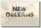 New Orleans Louisiana NEW U.S State Travel Poster (tr578) PosterEnvy gift steamboat