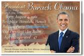 Presidential Series - U.S. President Barack Obama - New Social Studies Poster (fp415) PosterEnvy American History