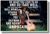 Do What You Love To Do and Do It So Well Mark Victor Hansen Motivational Classroom Poster (cm1039) Chicken Soup for the Soul Mark Victor Hansen Acoustic Guitar Musician PosterEnvy