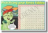 Times Table Chart - NEW Math Classroom Poster (ms280) Elementary Math PosterEnvy