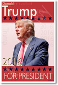 Donald Trump For President New Political Republican Poster (hu314)