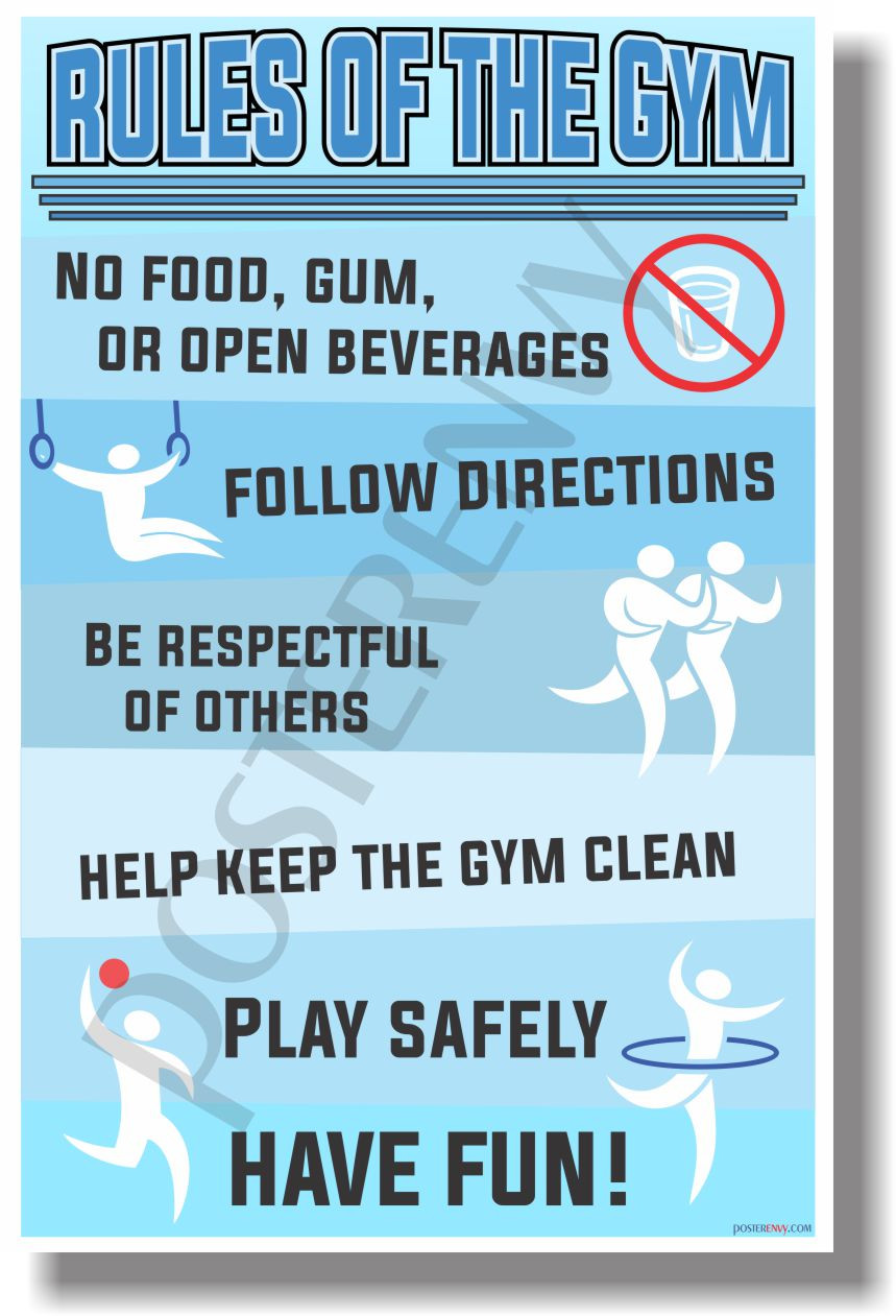 Rules Of The Gym - NEW Classroom Motivational Poster