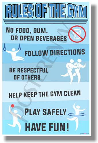 Rules Of The Gym - NEW Classroom Motivational PosterEnvy Poster