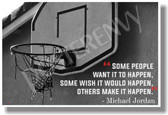 Make It Happen - Michael Jordan - NEW Classroom Motivational POSTER (cm1059) PosterEnvy