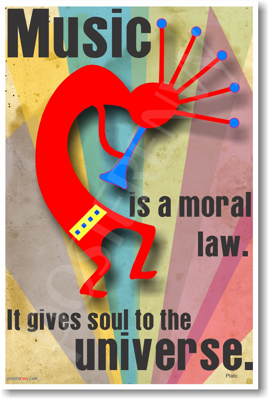 Music is a Moral Law  It Gives Soul to the Universe - Plato - NEW Music  Poster