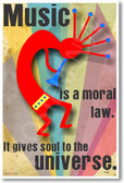 Music is a Moral Law It Gives Soul to the Universe Greek philosopher Plato NEW Music Poster (mu026) PosterEnvy Musician Clarinet