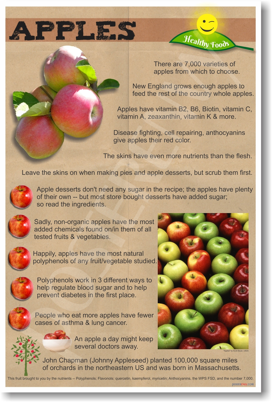 Healthy Foods Apples New Healthy Foods And Nutrition Poster He065