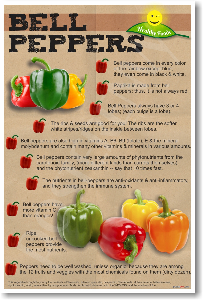 Healthy Foods - Bell Peppers - NEW Healthy Foods and Nutrition Poster