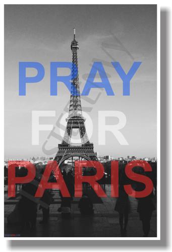 Pray for Paris 2 France French Terror Terrorism Eiffel Tower NEW World Travel Poster (tr582)