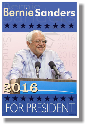 Bernie Sanders for President 2016 (blue) NEW USA Election Feel the Bern Democrat POSTER (po040)