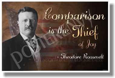 Comparison is the Thief of Joy President Teddy Theodore Roosevelt NEW School Students Teachers Classroom Motivational Poster (cm1071)