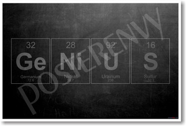 GeNiUS - Periodic Table Elements - NEW Humor Poster (hu358)