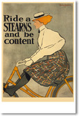 Ride a Stearns Be Content - Edward Penfield