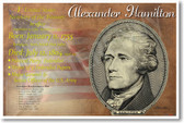 Alexander Hamilton founding father American 1st Secretary of the US Treasury NEW U.S. History Classroom POSTER (fp421) Lin Manuel Miranda