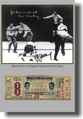 Joe Louis Knocks Out Max Schmeling Autographed
