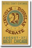 Lincoln - Douglas Debate - Vintage Poster