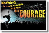 Nothing Is More Valuable To A Man Than Courage - Roman Poet, Terence - New Motivational Poster (cm1115)
