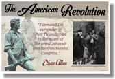 The American Revolution (quote) - Ethan Allen - NEW Social Studies POSTER (ss166)