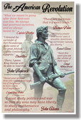 The American Revolution Quotes - NEW Social Studies POSTER (ss169)