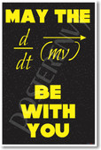 May The Force Be With You - NEW Science Classroom Physics Poster (ms303)