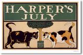 Harper's Magazine July Cover 1896 - 2 Cats