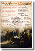 Quotes Of The American Revolution - NEW Social Studies POSTER (ss172)