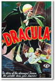 Dracula vampire bela lugosi movie poster film horror monster posterenvy