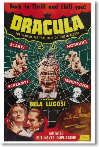 Dracula vampire bela lugosi movie poster film horror monster posterenvy
