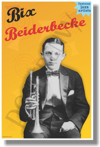 Bix Beiderbecke - Famous Jazz Artists - NEW Music Poster (fp426) PosterEnvy Poster