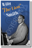 "Willie ""The Lion"" Smith - Famous Jazz Artists - NEW Music Poster (fp429) PosterEnvy Poster"