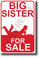 Big Sister For Sale NEW Humor POSTER (hu393) PosterEnvy Brother Funny Joke Sign Gift