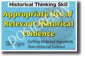 Appropriate Use of Relevant Historical Evidence Thinking Skill NEW Social Studies History POSTER (ss173) PosterEnvy