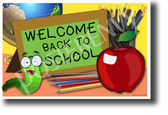 Welcome Back to School NEW Classroom Poster PosterEnvy worm apple teacher student elementary sign gift