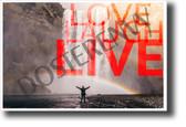Love Laugh Live NEW Classroom Motivational Poster (cm1169) PosterEnvy art artwork rainbow waterfall life positive