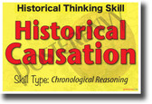 Historical Causation - NEW Social Studies POSTER (ss175) Poster Envy Poster