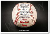 I Played Before the Greatest Fans in Baseball the Boston Fans Ted Williams NEW Sports Poster (fp433) PosterEnvy Red Sox slugger champion legend fielder batter hitter funny joke Bostonian