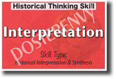 Historical Interpretation - NEW Social Studies POSTER (ss178) PosterEnvy Poster
