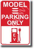 Tesla Model 3 Parking (Red) NEW Electric Vehicle Humor POSTER (hu401) elon musk EV auto cars
