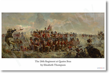 The 28th Regiment at Quatre Bras Elizabeth Thompson 1875 NEW Fine Arts POSTER (fa171) posterenvy oil painting female women british english