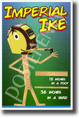 Imperial Ike New Math & Science Measurement Poster (ms309) tape measure feet inches classroom teacher students