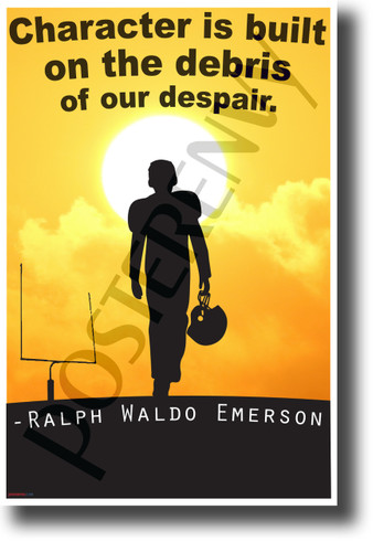 Character is built on the debris of our despair - Ralph Waldo Emerson - Quote Poster (cm1208) NEW Classroom Motivational Poster PosterEnvy Poster