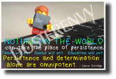 """Nothing in the world can take the place of persistence..."" - Calvin Coolidge - Famous Person Quote Poster (cm1213) PosterEnvy Poster"