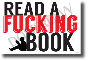 Read a Fucking Book (Red) - NEW Humor POSTER (hu406) PosterEnvy Poster